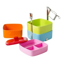 Rice Melamine Lunch Box X-large  Multi Color Multi