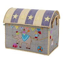 Rice Medium Raffia House Basket Circus Medium Multi