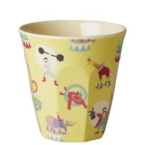 Rice Small Melamine Cup Circus Print Yellow