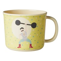 Rice Baby Melamine Cup with Boy Circus Print Yellow Gul