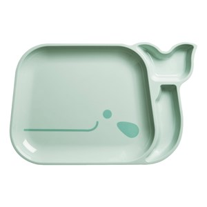 Rice Blue Whale Plate