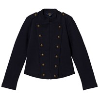 Ralph Lauren Navy Fleece Military Jacket Navy