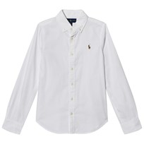 Ralph Lauren White Frill Collar Oxford Shirt White