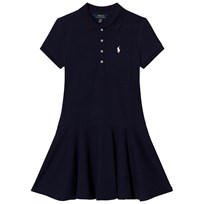 Ralph Lauren Navy Short Sleeve Polo Dress French Navy