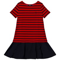 Ralph Lauren Navy Stripe Ponte Dress Hunter Navy