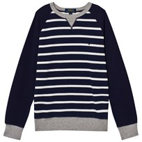 Ralph Lauren Navy Stripe Sweatshirt Newport Navy Multi