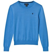 Ralph Lauren Pale Blue Pima Cotton Jumper Florida Blue