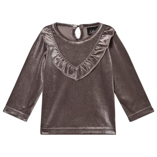 Petit by Sofie Schnoor Velour Top Grey Silver