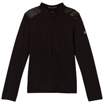 Poivre Blanc Black 1/4 Zip Base Layer 9000