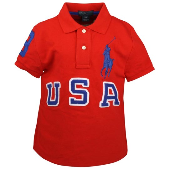Ralph Lauren SS Custom Fit Polo RL 2000 Red Red