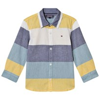 Tommy Hilfiger Blue, Yellow and White Color Block Shirt 125