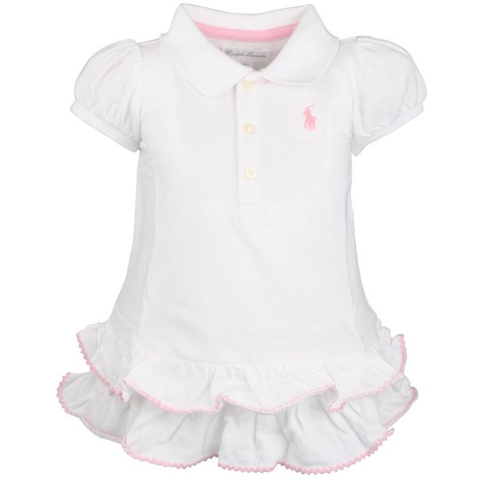 Ralph Lauren SS baby Ric Rac Polo Dress White