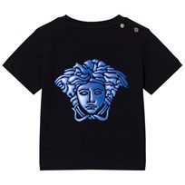 Young Versace Navy with Blue Rubber Medusa Infants Tee Y3783
