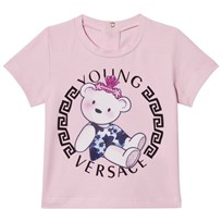 Young Versace Pink Teddy Bear Medusa Print Infants Tee Y3976