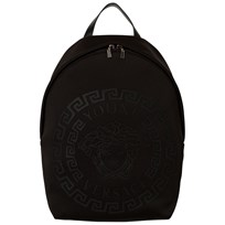 Young Versace Black Neoprene Rubber Medusa Backpack YSNNN