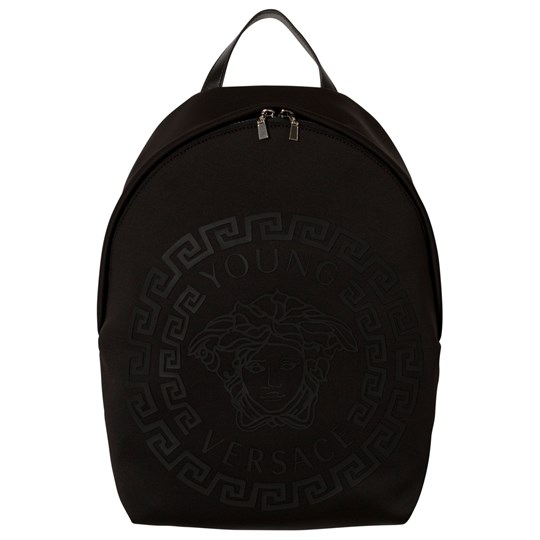 Versace Black Neoprene Rubber Medusa Backpack YSNNN