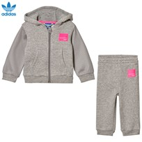 adidas Originals Grey Infants Equipments Hoodie  Set MEDIUM GREY HEATHER