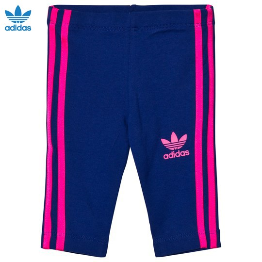 adidas Originals Navy Infants Leggings MYSTERY INK F17/SOLAR PINK