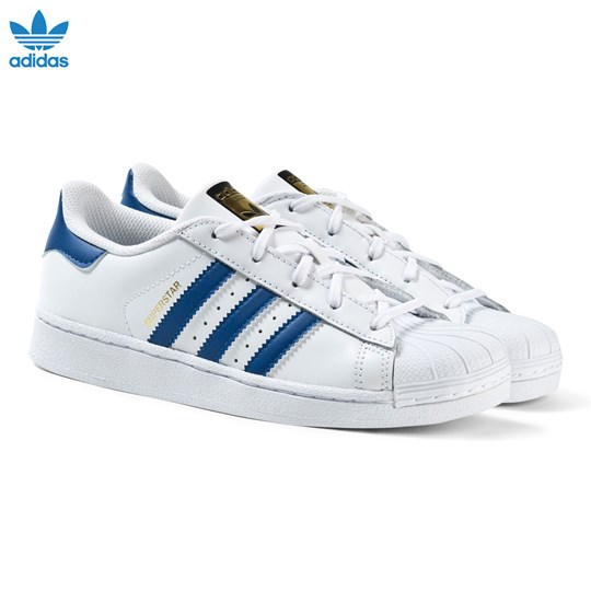 adidas Trainers Originals Superstar Foundation Trainers adidas Hvid and Blå 8e63d0