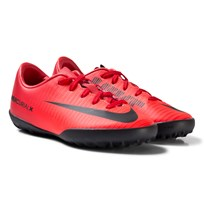 NIKE MercurialX Vapor VI Junior Turf Soccer Boots Red UNIVERSITY RED/BLACK-BRIGHT CRIMSON