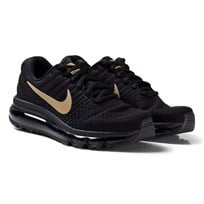 NIKE Black Nike Air Max 2017 Junior Trainers BLACK/METALLIC GOLD