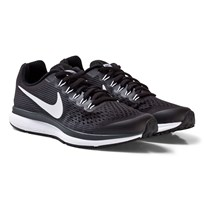 NIKE Black Nike Zoom Pegasus 34 Junior Trainers BLACK/WHITE-DARK GREY-ANTHRACITE