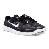 NIKE Black Nike Free Run 2 Junior Trainers BLACK/WHITE-DARK GREY-ANTHRACITE