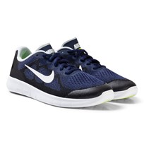 NIKE Blue Nike Free Run 2 Junior Trainers BINARY BLUE/WHITE-BLACK-VOLT