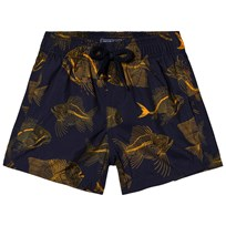 Vilebrequin Navy Skeleton Fish Print Swim Shorts 390