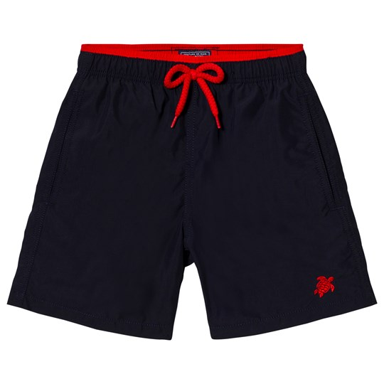 Vilebrequin Navy Swim Shorts with Embroidered Logo 390