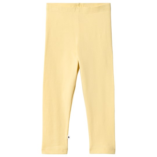Molo Nette Solid Leggings Yellow Raffia