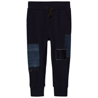 Diesel Navy Denim Patchwork Sweat Pants K860