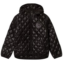 Diesel Black Quilted Mochican Logo Hooded Jacket K900