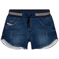 Diesel Blue Jog Denim Shorts K01