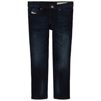 Diesel Dark Wash Skinzee Low Skinny Jeans K01