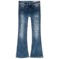 Diesel Mid Wash Lowleeh Distressed Flared Jeans K01