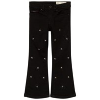 Diesel Black Star Embellished Lowleeh Flared Jeans K02