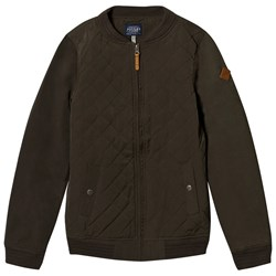 Tom Joule Khaki Quilted Bomber Jacket