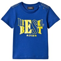 Diesel Blue and Lime Diesel Best Ever Print Tee K89D