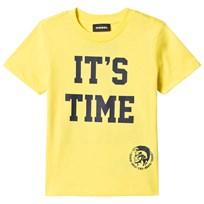 Diesel Yellow Time 2 Party Print Tee K257