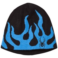 Spyder Black And Blue Younger Fire Hat 018 BLK/FRB
