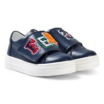Fendi Navy Branded Trainers F0QA2