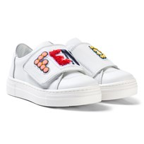 Fendi White Branded Trainers F0QA0