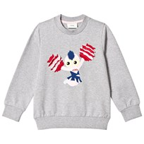 Fendi Grey Fendi Cheerleader Print Sweat F0HA1