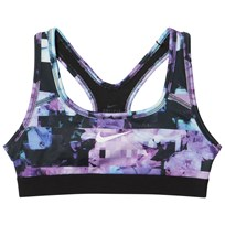 NIKE Purple Printed Sports Bra PURPLE COMET/BLACK/BLACK/WHITE
