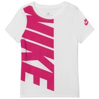 NIKE White Branded Sportswear Tee WHITE/ACTIVE PINK