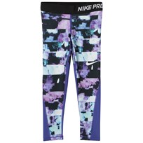 NIKE Purple Printed Leggings PERSIAN VIOLET/PURPLE COMET/BLACK/WHITE