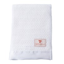 The Wool Company Satin Trimmed Pram Blanket White
