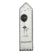OYOY Hello World - Measuring board Black / White