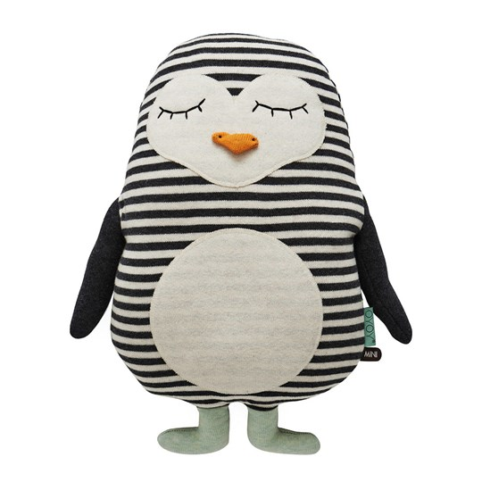 OYOY Penguin Pingo Cushion Black / White